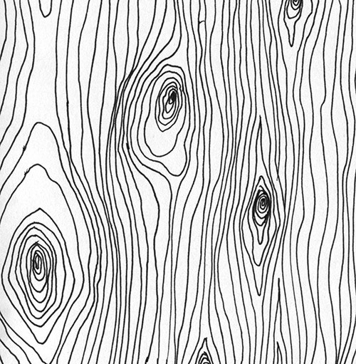Wood grain texture made with curves