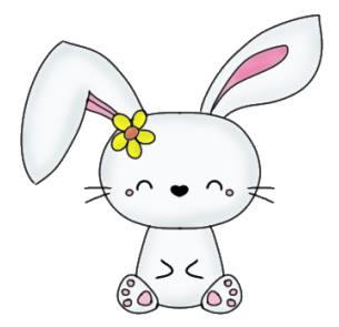 Adorable Bunny Pencil Drawing