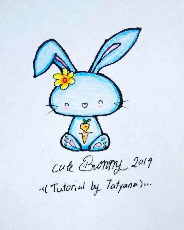 Cute Blue Bunny