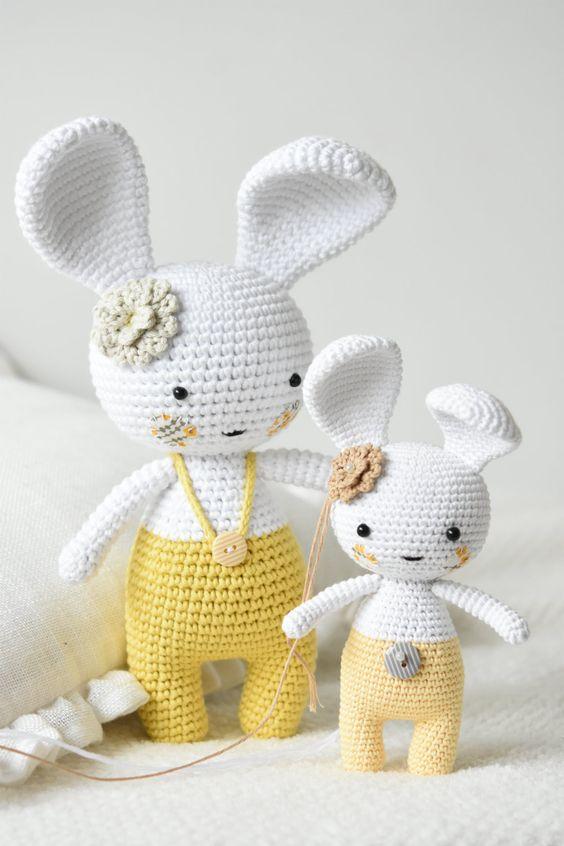 Handmade bunny amigurumi toy