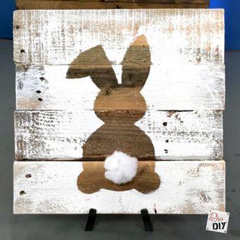 DIY bunny wood decoration