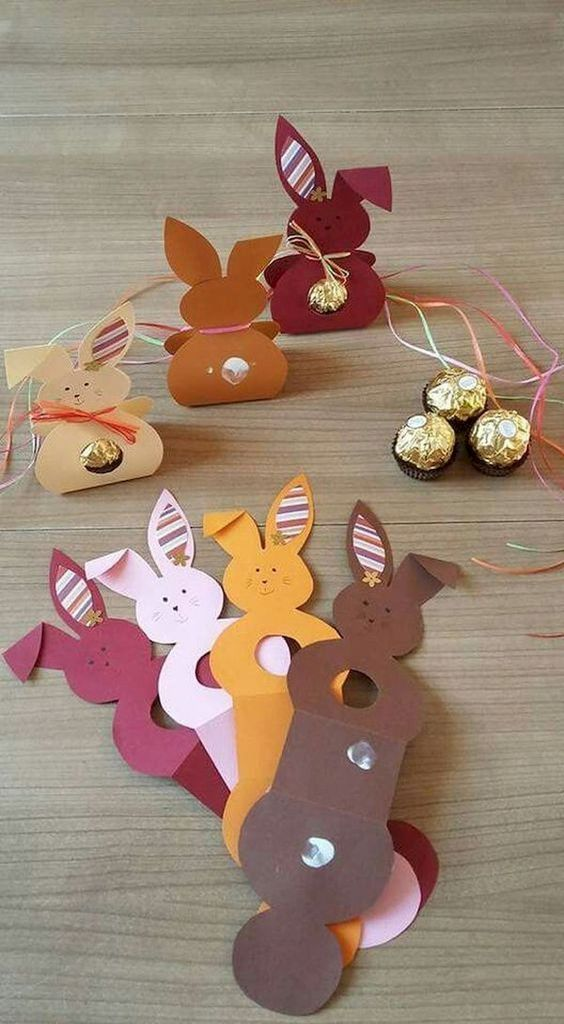 Easter bunny paper craft ideas