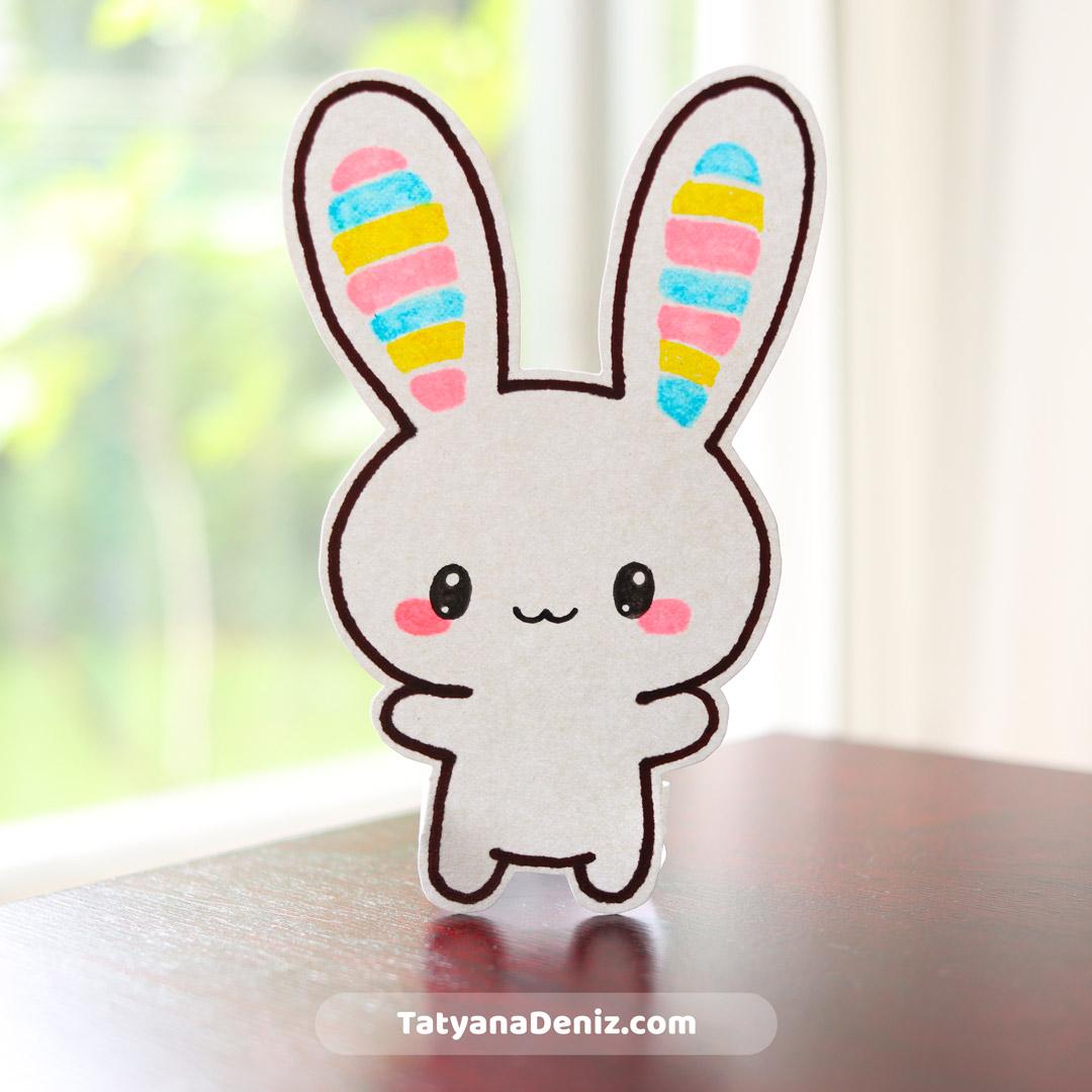 Kawaii bunny drawing tutorial by Tatyana Deniz