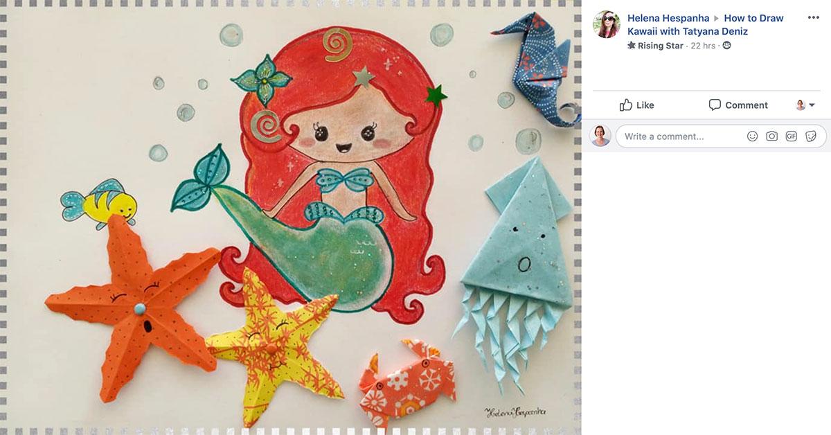 Student gallery mermaid ariel art