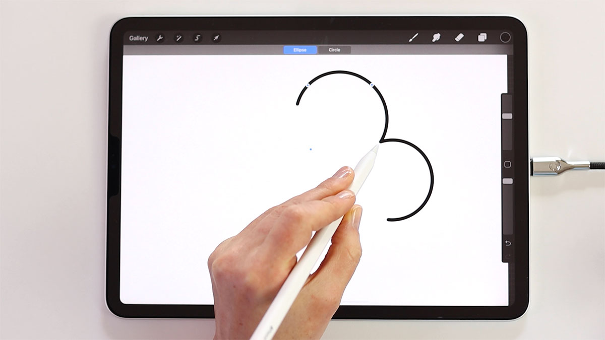 Use streamline to draw smooth arcs, connect arcs together to create complex shapes