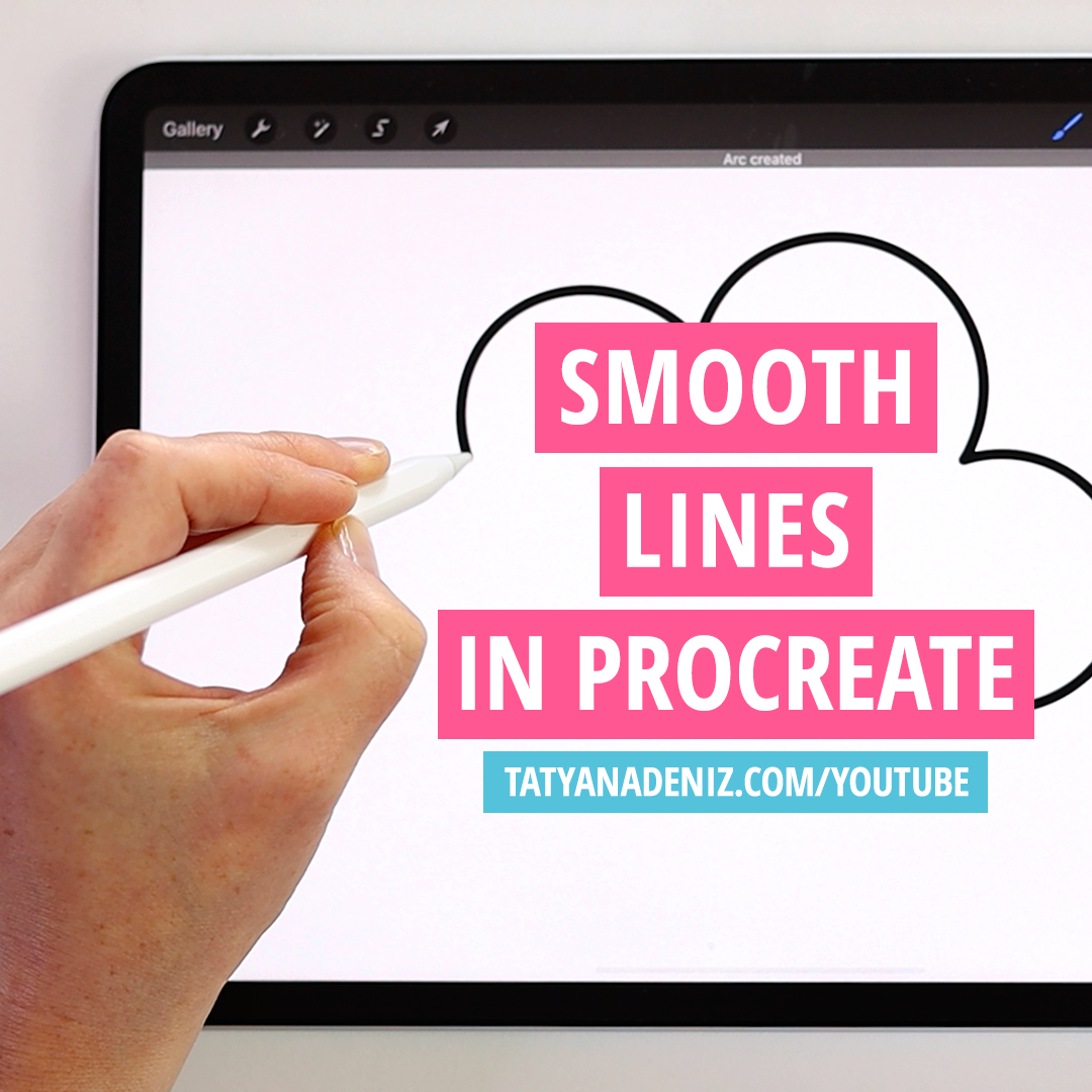 Learn how to draw smooth lines in Procreate