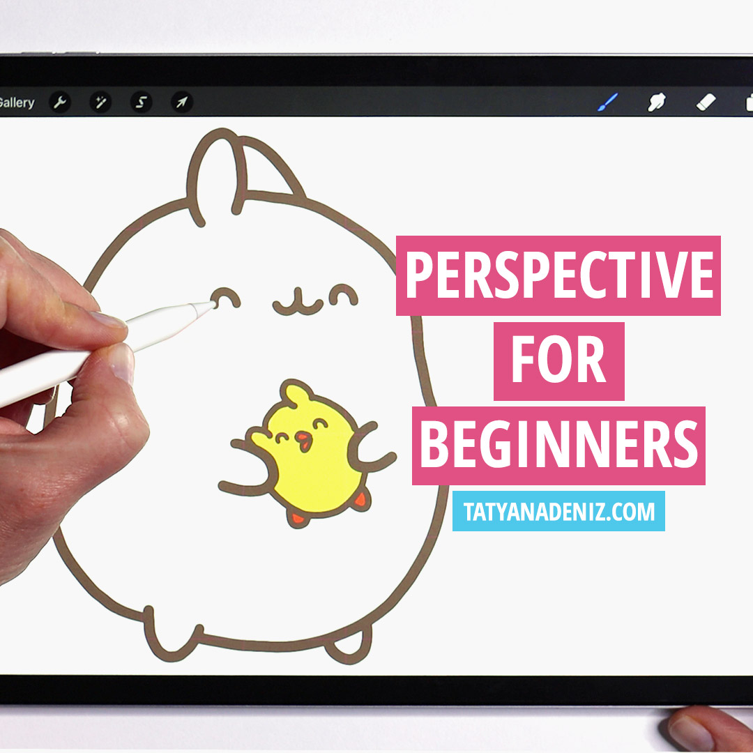 Molang in perspective tutorial to learn how to draw characters in perspective