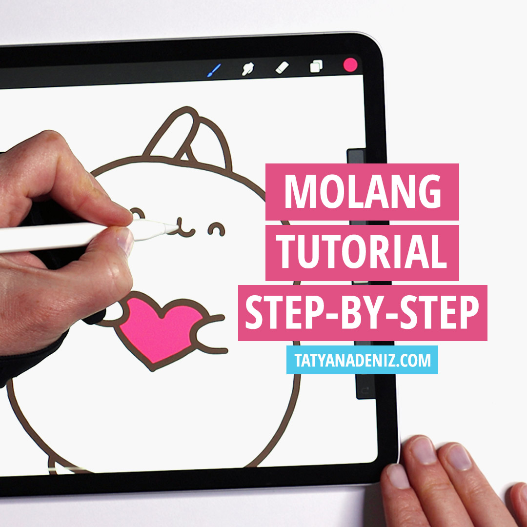 How to draw Molang step-by-step