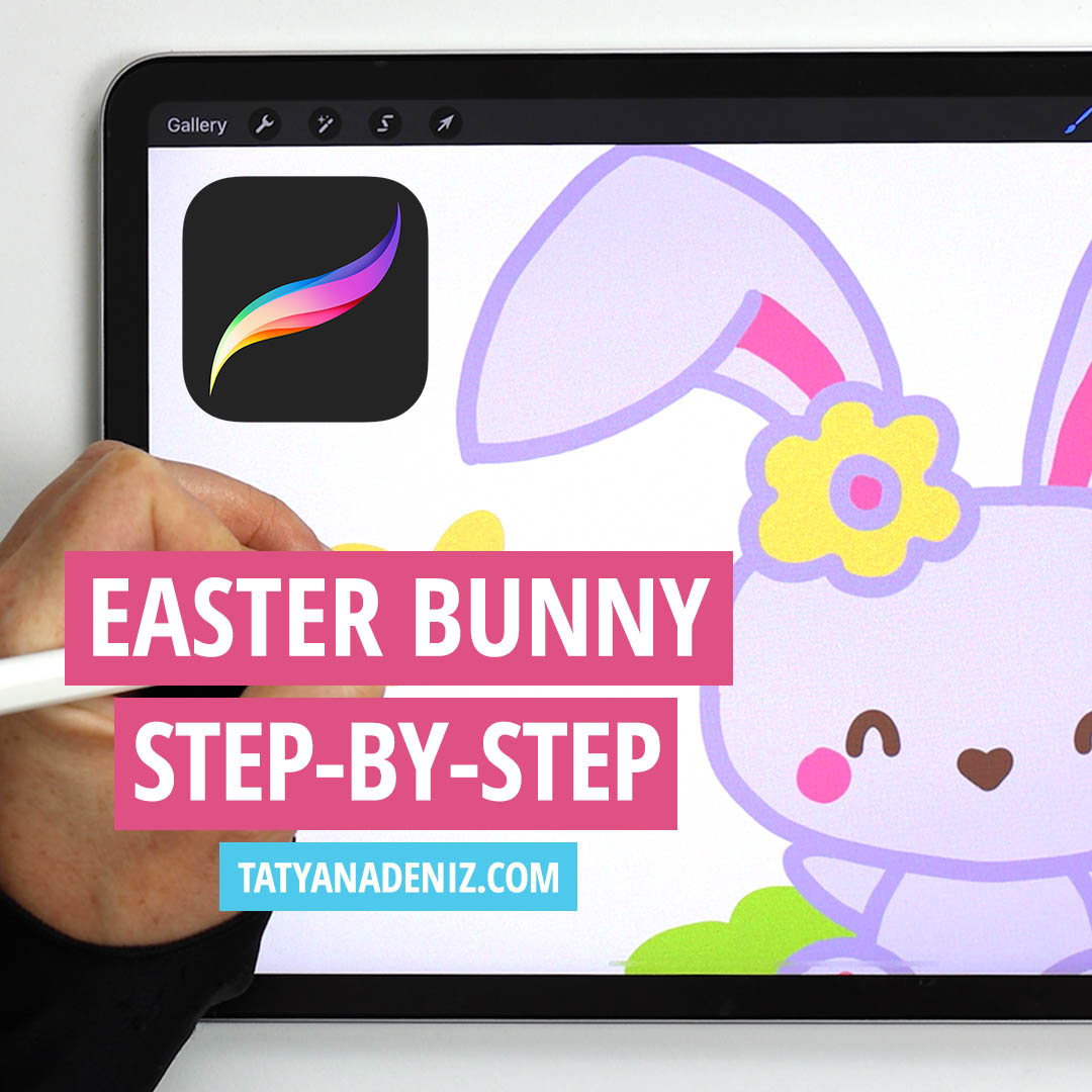 How to Draw Cute Easter Bunny with Guided Drawing Video Tutorial