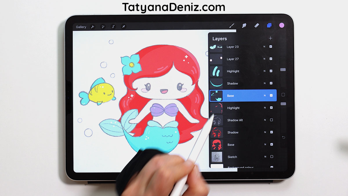 How to set up Procreate layers for coloring