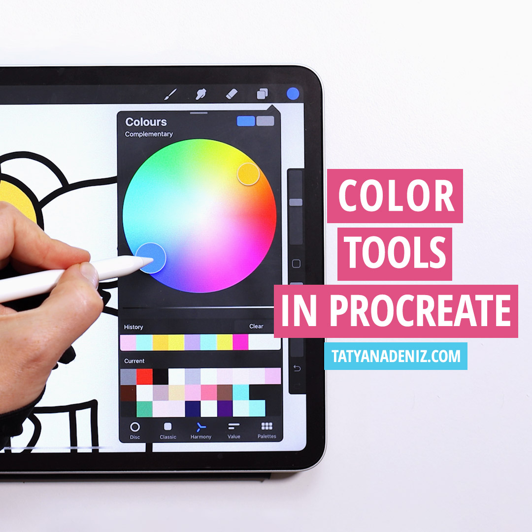 Color tools in Procreate
