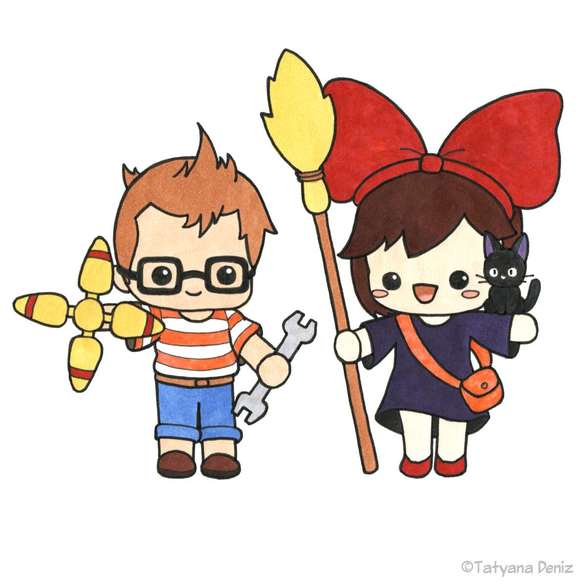 Kawaii Kiki and Tombo