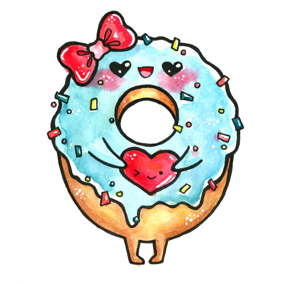 Lovely kawaii doughnut